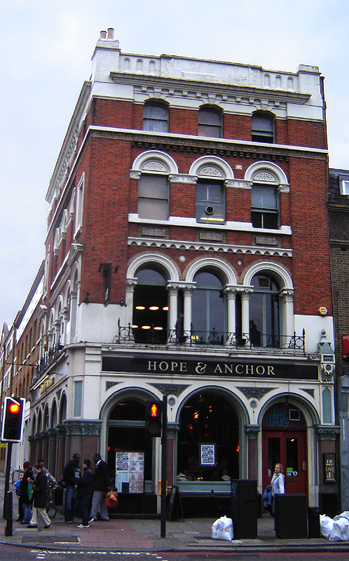 Hope and Anchor Pub in Hackney